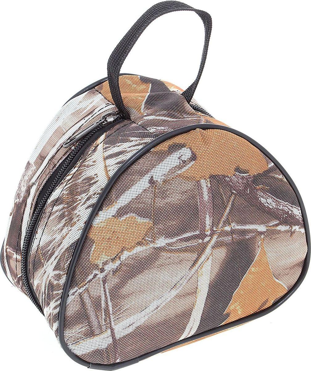 Сумка Onlitop для хранения и переноски катушек, средняя, цвет: коричневый