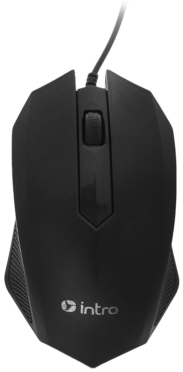 Мышь Intro MU130, Black intro мышь intro mu208g gaming black usb