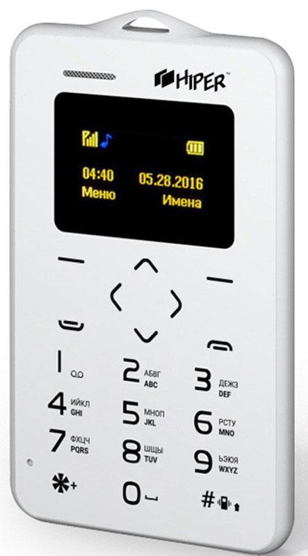 Мобильный телефон HIPER sPhone Card, белый