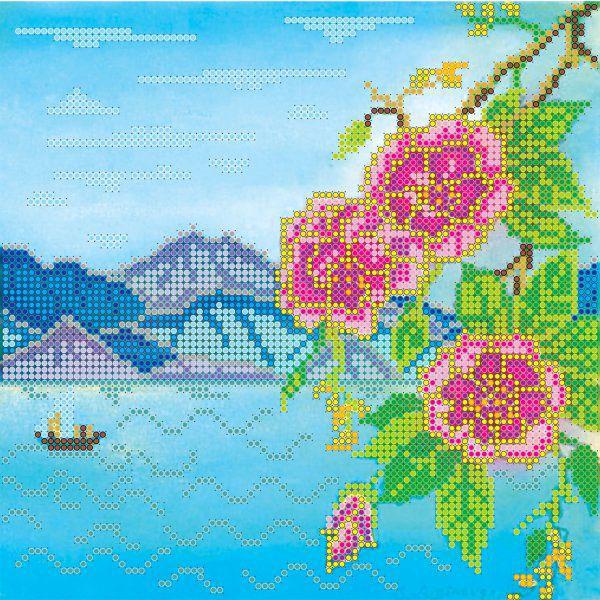 Схема для вышивки бисером на холсте Абрис Арт Берег, 20 x 20 см цена