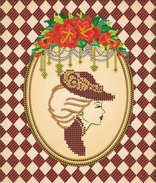 Схема для вышивки бисером на холсте Абрис Арт Ретро, 17 x 20 см цена