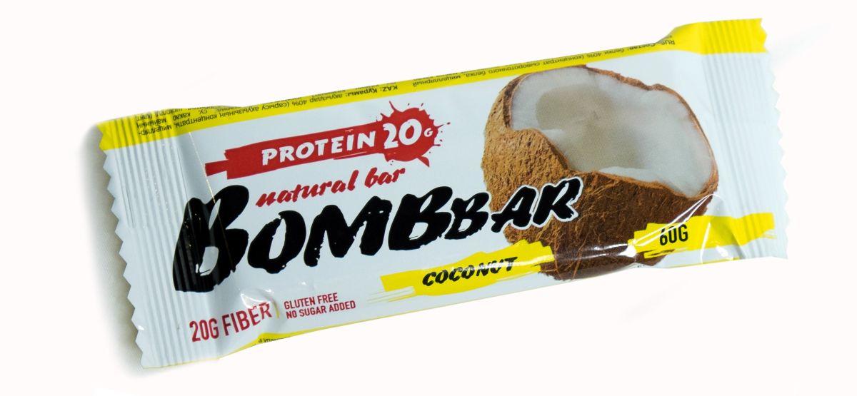 Батончик протеиновый BOMBBAR, кокос, 60 г