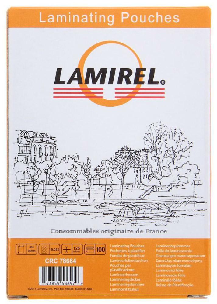 Lamirel LA-78664 65 x 95 мм пленка для ламинирования, 125 мкм (100 шт) пленка