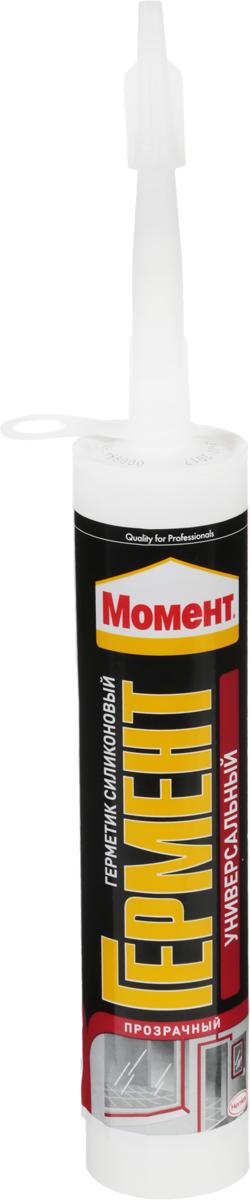 Герметик силиконовый Момент Гермент, универсальный, 280 мл. 1998757 герметик силиконовый момент гермент санитарный цвет прозрачный 280 мл