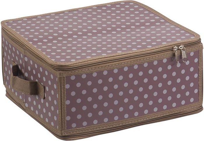 Короб для хранения Handy Home Полька, складной, 30 х 28 х 15 см короб для хранения обуви handy homeроза 4 секции 94 х 60 х 15 см