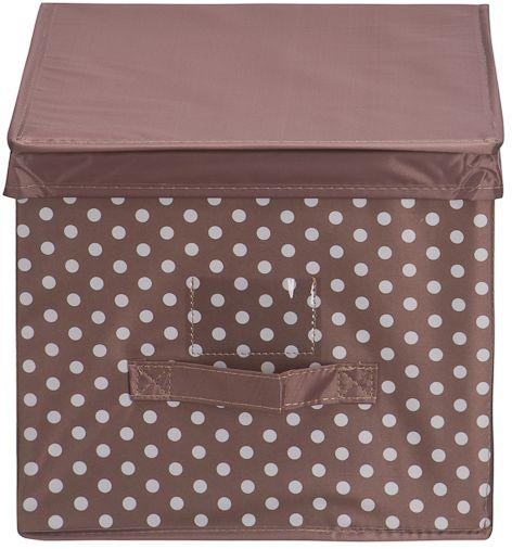 Кофр для хранения Handy Home Полька, 40 х 30 х 25 см подставка для ноутбука барышня handy home