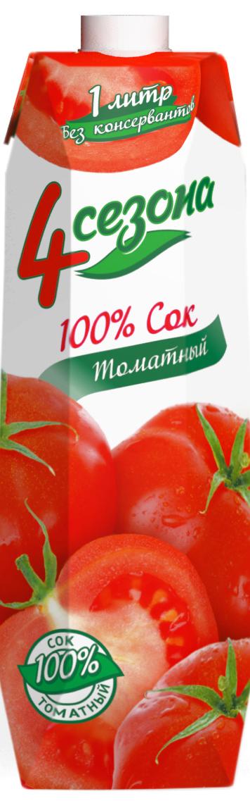 4 сезона Сок Томатный, 1 л 4 сезона сок томатный 1 л