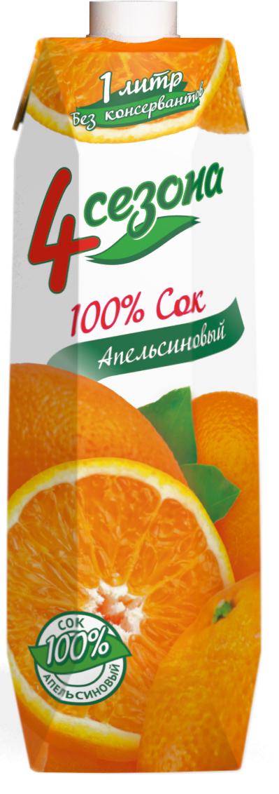 4 сезона Сок Апельсиновый, 1 л 4 сезона сок томатный 1 л