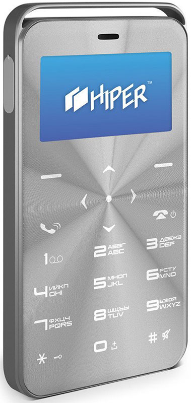 Мобильный телефон HIPER sPhone Vinyl, серебристый мобильный телефон hiper sphone vinyl black