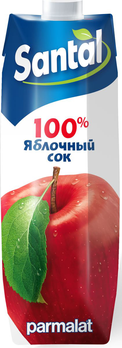 Santal Сок Яблочный, 1 л