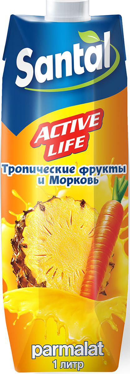 Santal Нектар Active Life Тропик - Морковь, 1 л миша нектар морковь яблоко 0 33 л