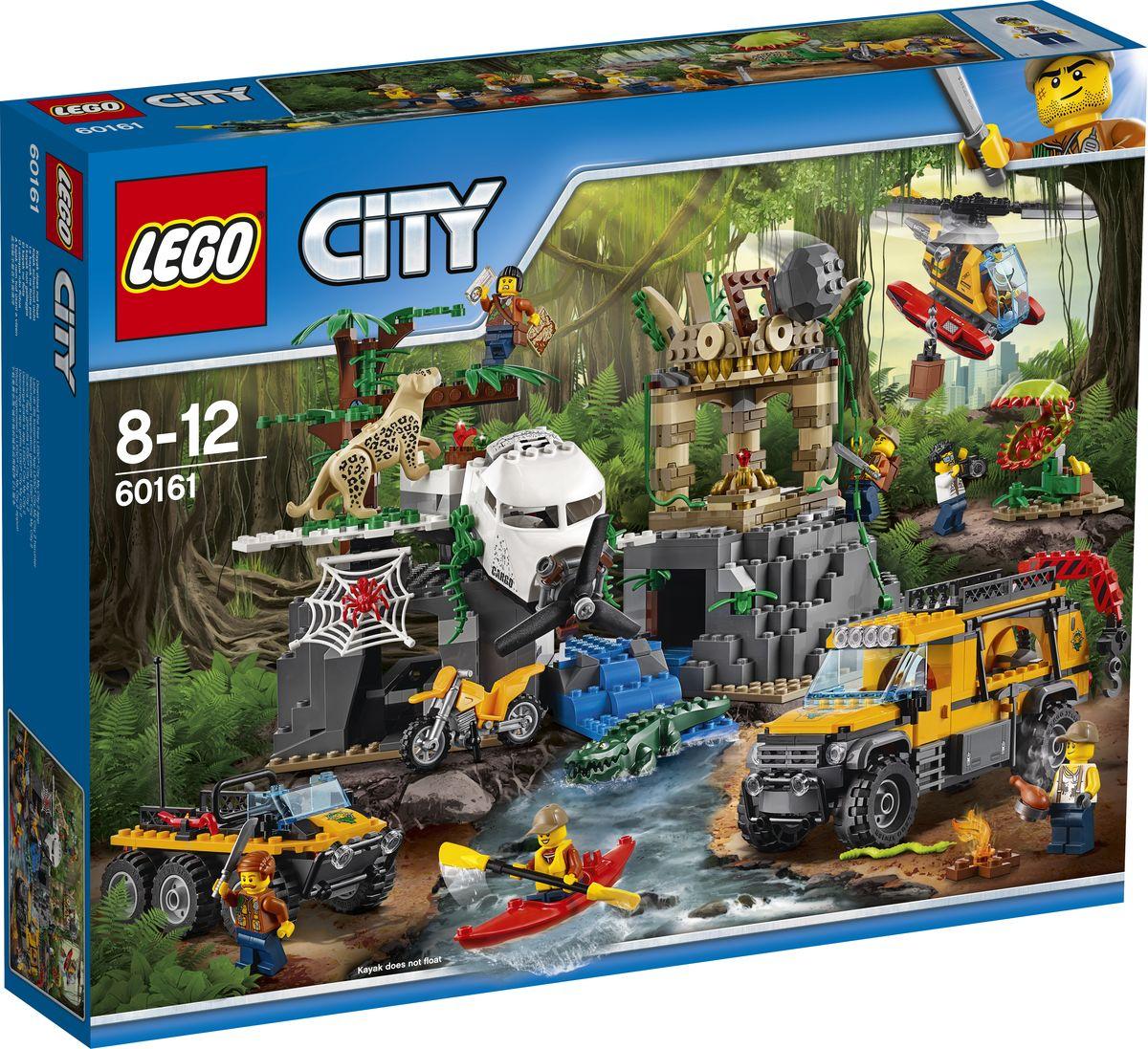 LEGO City Jungle Explorer 60161 База исследователей джунглей Конструктор цена