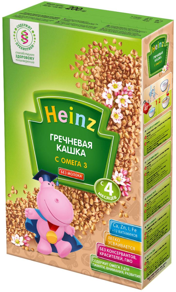 Heinz каша гречневая с омега 3, 4 месяцев, 200 г