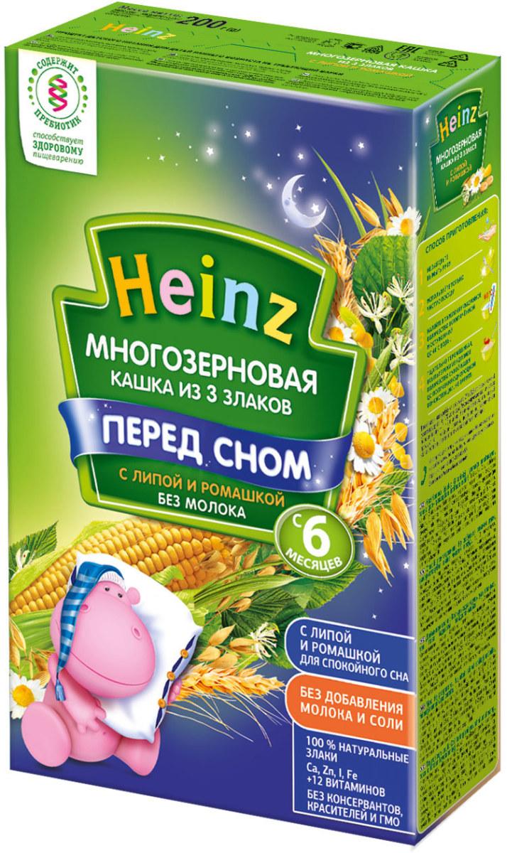 Heinz каша многозерновая из 3 злаков с липой и ромашкой, с 6 месяцев, 200 г heinz каша многозерновая из пяти злаков с 6 месяцев 200 г
