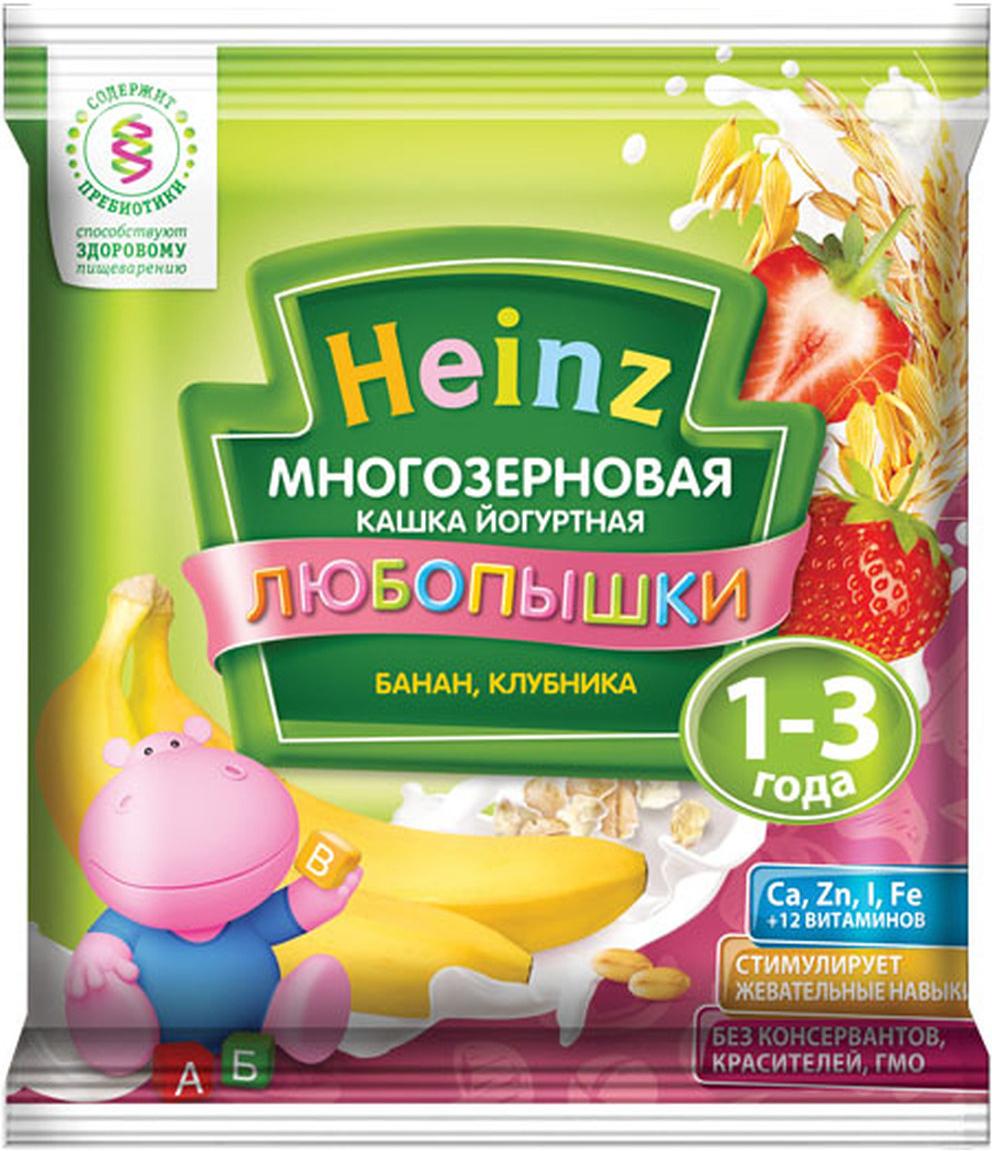 Heinz каша многозерновая фруктово-йогуртная банан, клубника сашет, с 12 месяцев, 30 г
