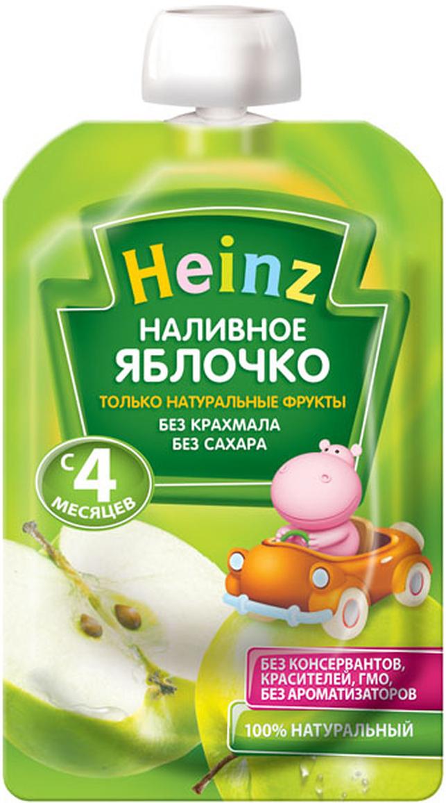 Heinz пюре наливное яблочко, с 4 месяцев, 100 г (пауч)