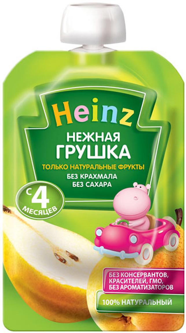 Heinz пюре нежная грушка, с 4 месяцев, 100 г (пауч)76003492Продукт готов к употреблению. Откройте крышку и кормите с ложечки. Более взрослые дети могут употреблять продукт непосредственно из упаковки. Если продукт необходимо разогреть, поместите упаковку в теплую воду. Не разогревать в микроволновой печи. Рекомендуем!