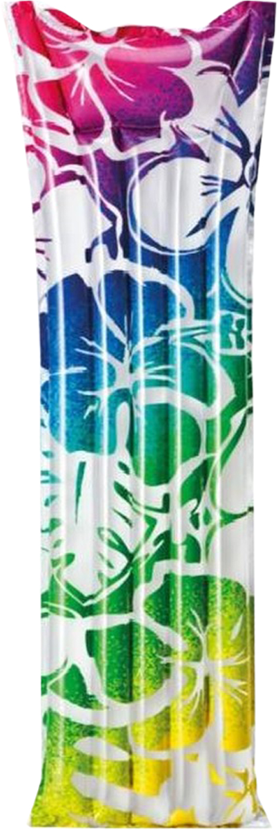 """Надувной матрас Intex """"Красочный"""", цвет: бирюзовый, синий, фиолетовый, розовый, 183 х 69 см"""