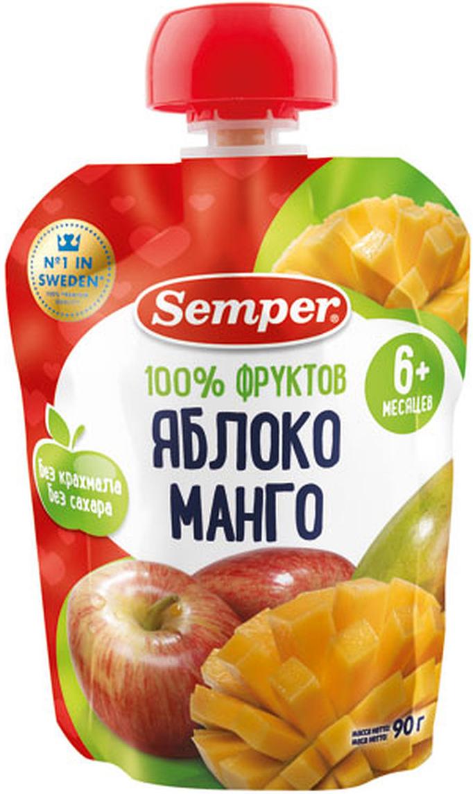 Semper пюре яблоко и манго, с 6 месяцев, 90 г