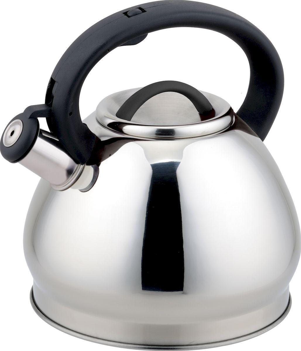 Чайник Rainstahl, 7627-30RS\WK, серебристый, 3 л чайник rainstahl со свистком цвет белый 3 л 7540 30rs wk