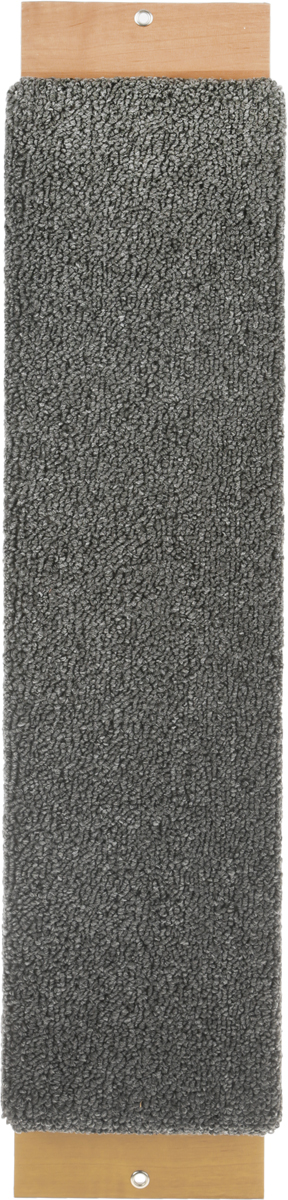 Когтеточка Неженка, с кошачьей мятой, цвет: серый, 68 х 15 х 2,5 см когтеточка угловая неженка с кошачьей мятой цвет темно серый коричневый 68 х 30 х 2 5 см