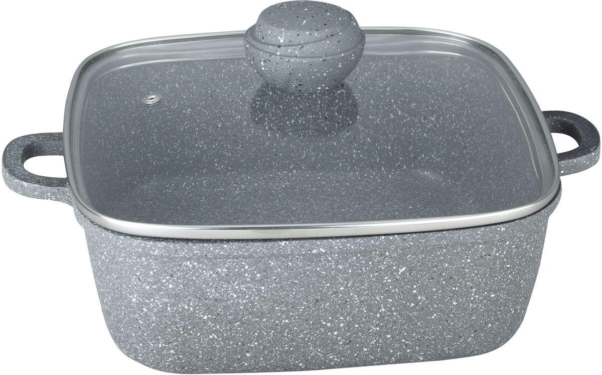Кастрюля Bekker Silver Marble с крышкой, с антипригарным покрытием, 6,1 л цена