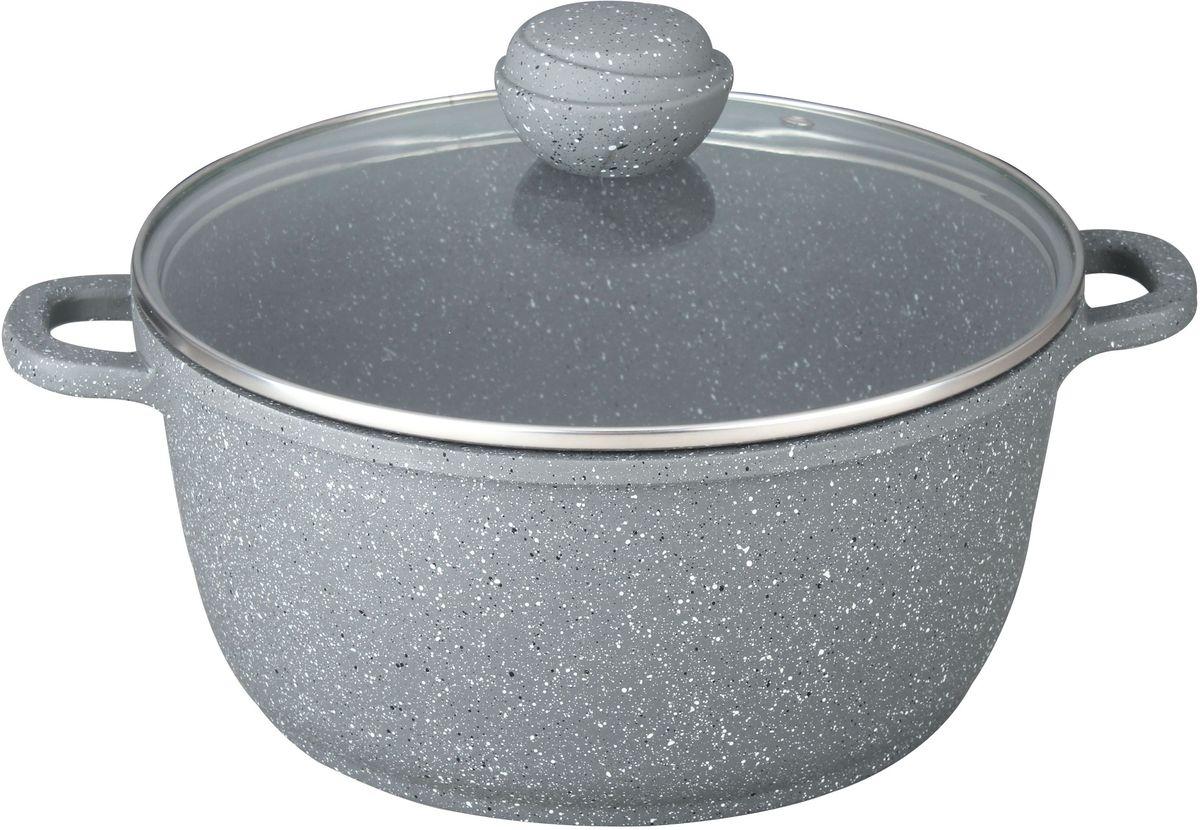 Кастрюля Bekker Silver Marble с крышкой, с антипригарным покрытием, 6 л цена