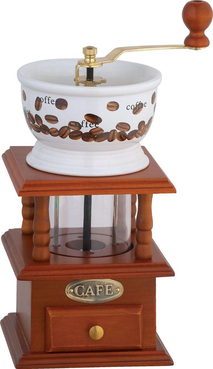 Кофемолка Bekker BK-2528, ручнаяBK-2528Кофемолка Bekker BK-2528, выполненная из дерева и керамики, украшенной ярким рисунком, сочетает в себе эстетичность и функциональность. Она оснащена выдвижным ящичком для молотого кофе, металлической воронкой и удобной элегантной ручкой для помола, внутренний механизм - керамический. Вы сможете регулировать степень помола от мелкого до крупного. Инструкция по регулировке степени помола имеется на упаковке изделия. Такая кофемолка станет незаменимым помощником на вашей кухне
