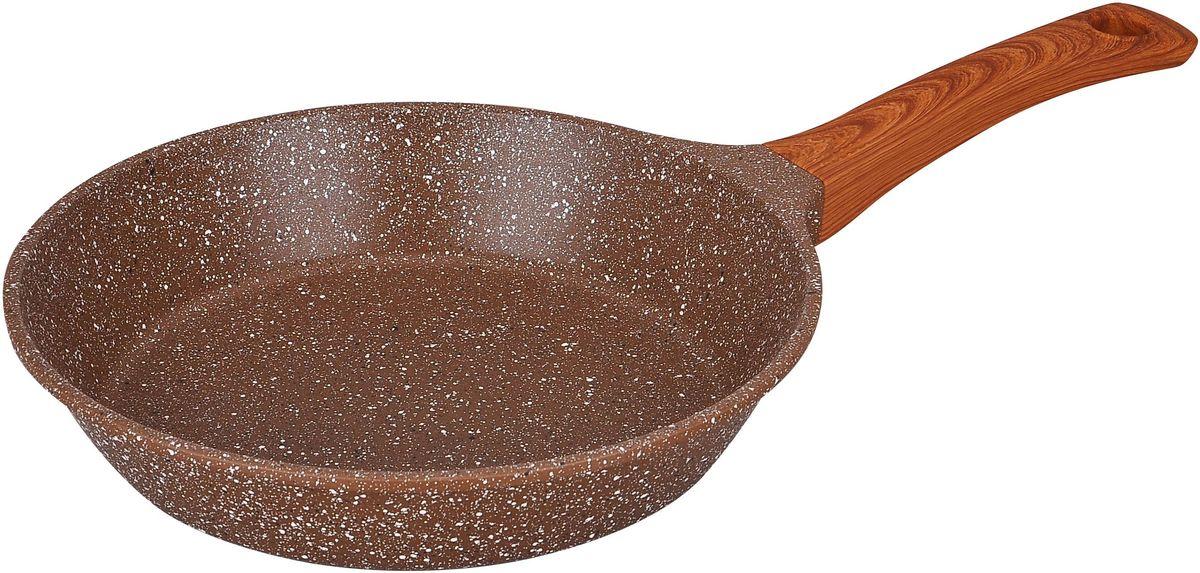 Сковорода Winner Marble Luxury, с мраморным покрытием. Диаметр 24 см. WR-8154 сковорода winner с керамическим покрытием d 24 см wr 6606