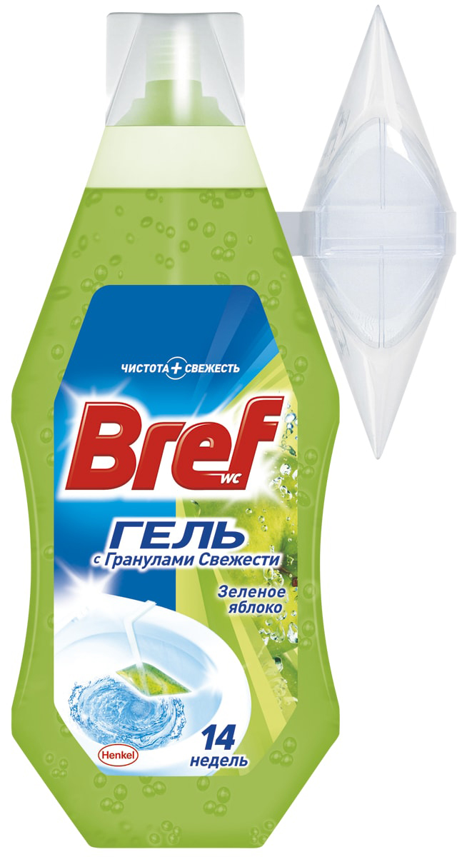 Освежитель для туалета Bref Гель Зеленое Яблоко 360мл чистящее средство для унитаза bref сила актив с хлор компонентом 50г