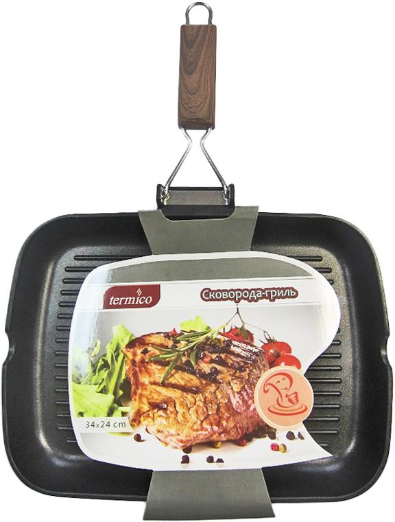 Сковорода-гриль Termico, с антипригарным покрытием, 34 x 24 5 см