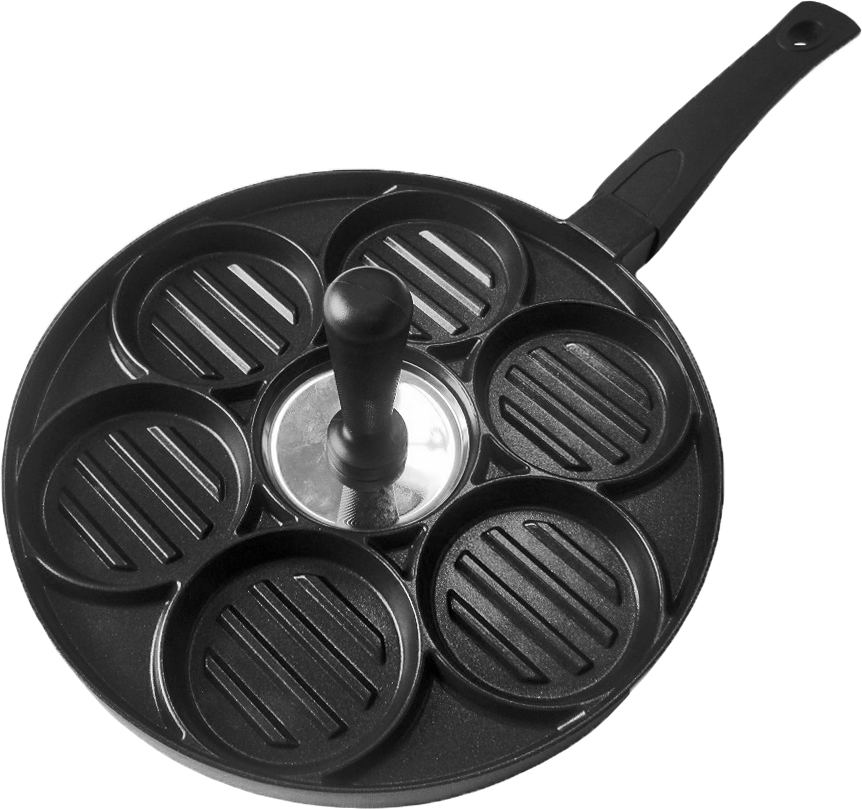 Сковорода-гриль Nice Cooker для котлет, с антипригарным покрытием. Диаметр 26 см
