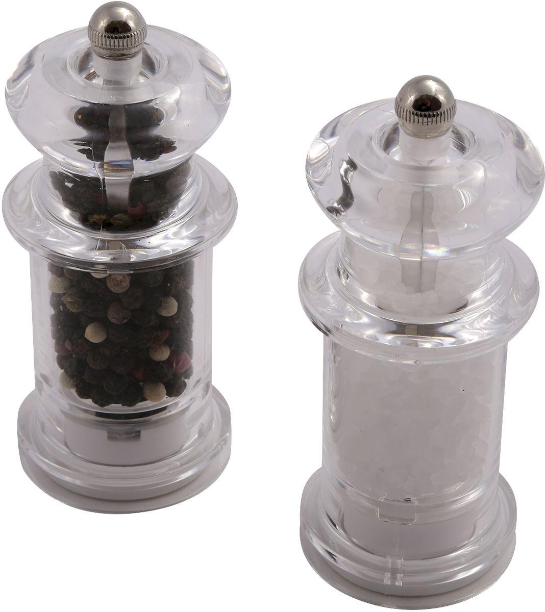 """Набор для специй Moha """"Millies"""", цвет: серый металлик, 2 предмета"""