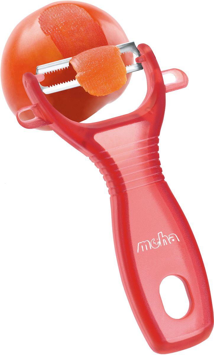 """Нож для чистки овощей Moha """"Pela"""", цвет: красный"""