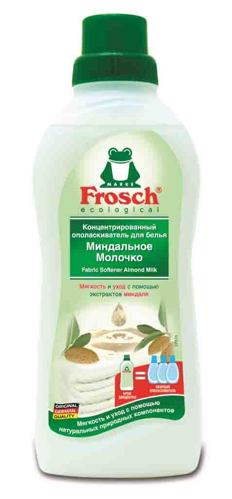 """Ополаскиватель для белья Frosch """"Миндальное молочко"""", концентрированный, 750 мл"""