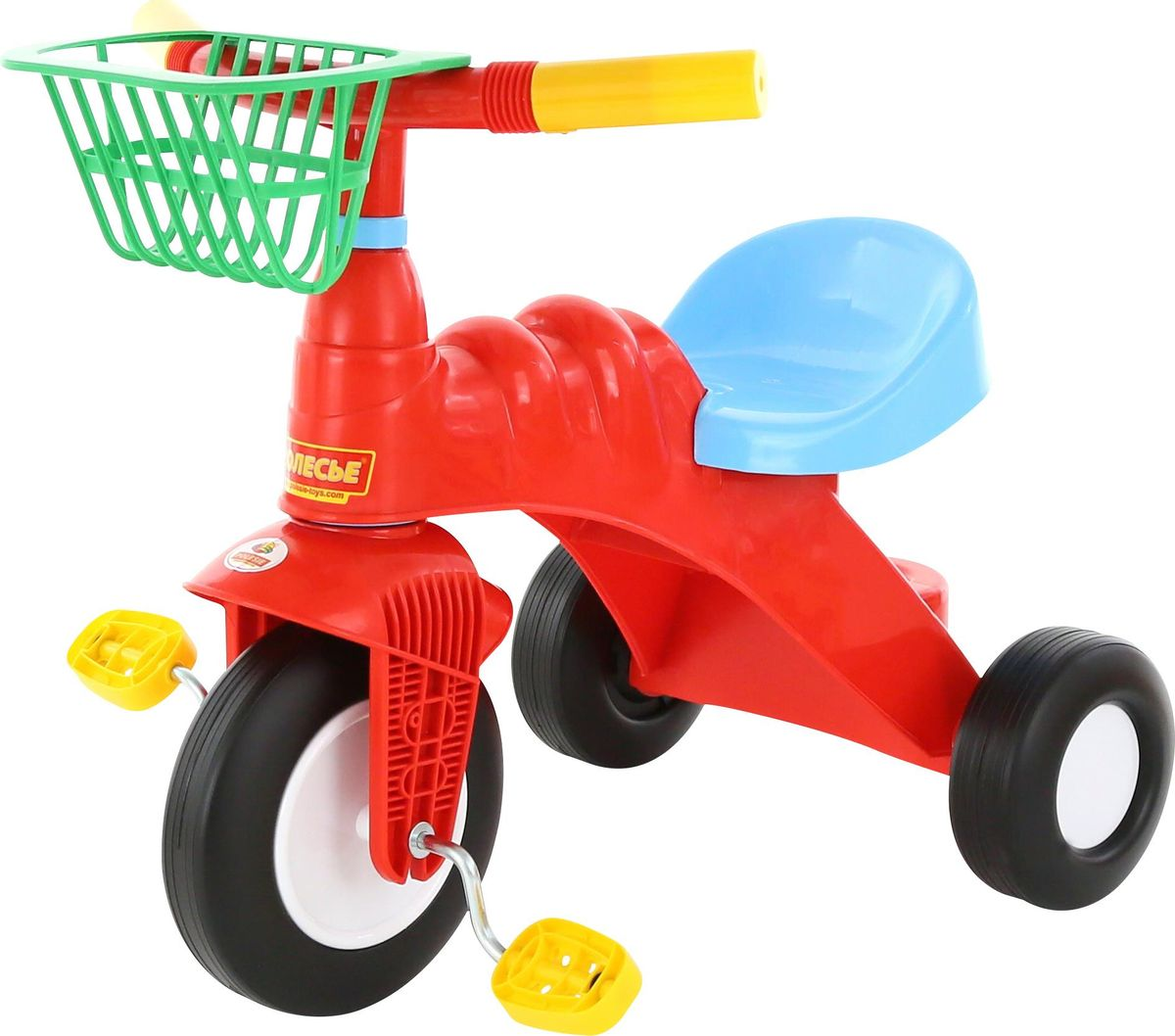 Полесье Велосипед трехколесный Малыш с корзинкой, цвет в ассортименте