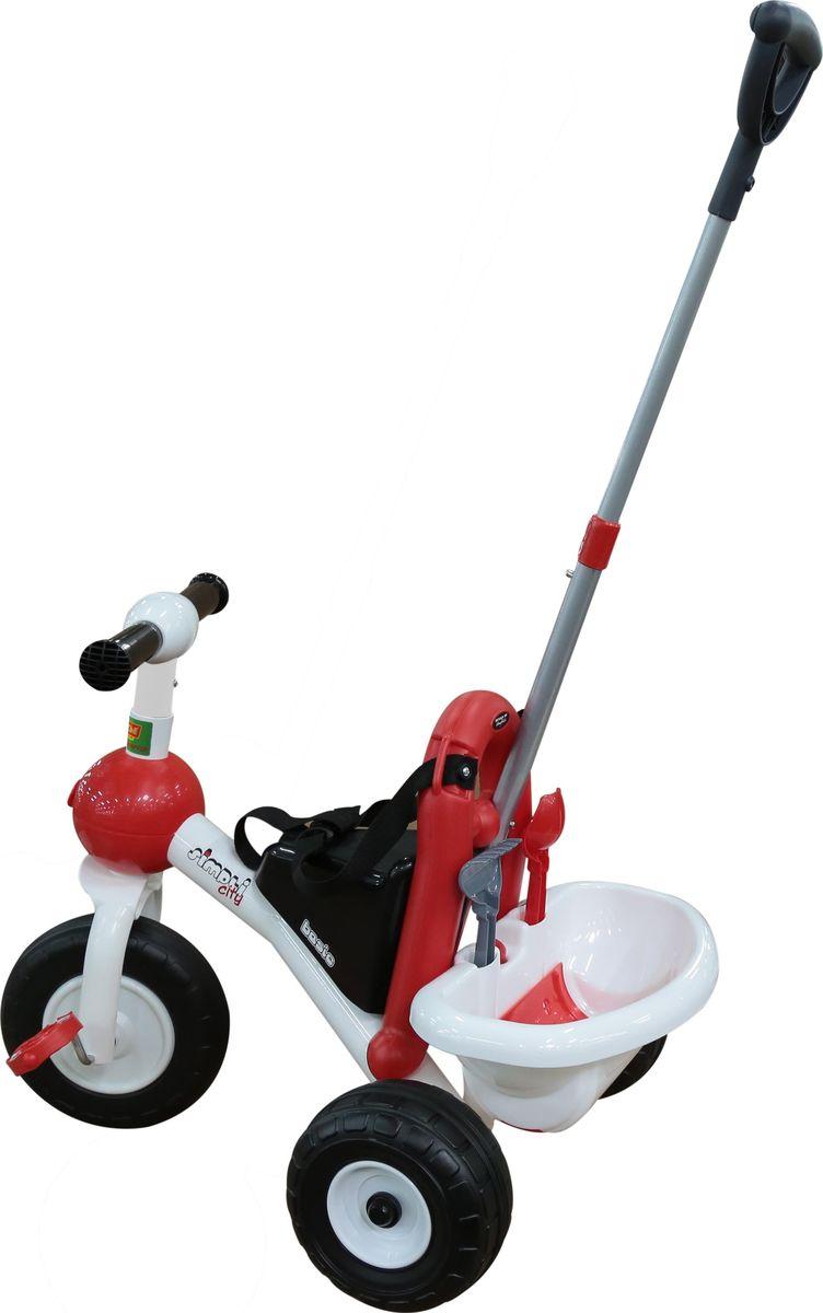 Полесье Велосипед трехколесный Базик с ручкой и ремешком, цвет в ассортименте
