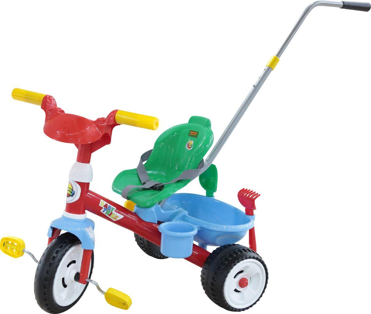Полесье Велосипед трехколесный Беби Трайк с ручкой и ремешком, 46475, цвет в ассортименте