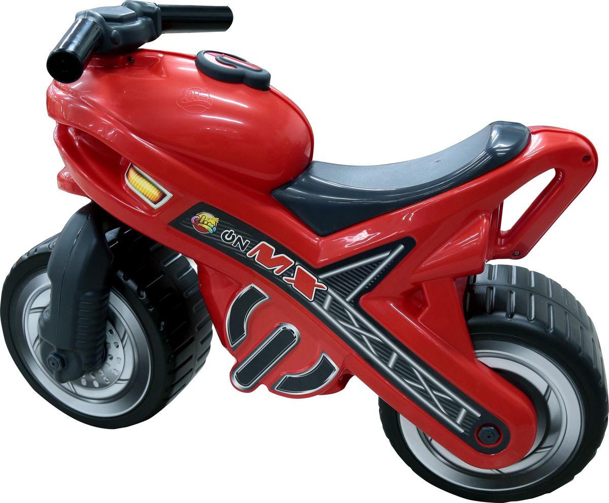Полесье Каталка Мотоцикл МХ, цвет в ассортименте каталка мотоцикл pilsan mini moto в подарочной коробке красный 06 809