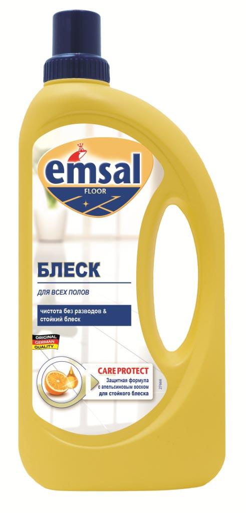 Средство для придания блеска полу Emsal, с апельсиновым воском, 1 л706389Средство Emsal с ухаживающим составом и апельсиновым воском предназначено для придания идеального блеска полу. Оно обеспечивает чистоту и блеск без разводов. Придает поверхности стойкий блеск без дополнительной полировки и обеспечивает стойкую защиту от следов каблуков, царапин и повторного загрязнения. Свежий стойкий апельсиновый аромат. Подходит для применения на всех водоустойчивых полах. Товар сертифицирован. Как выбрать качественную бытовую химию, безопасную для природы и людей. Статья OZON Гид Рекомендуем!