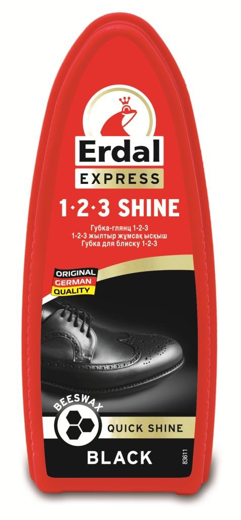 Губка-глянец для обуви Erdal, цвет: черный краска для кожи erdal
