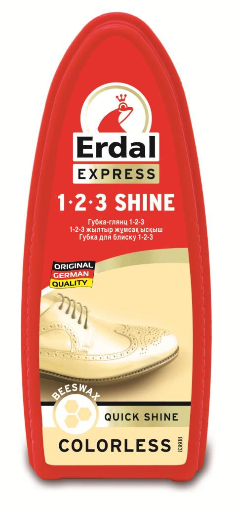 Губка-глянец для обуви Erdal, цвет: бесцветный, 75 мл краска для кожи erdal