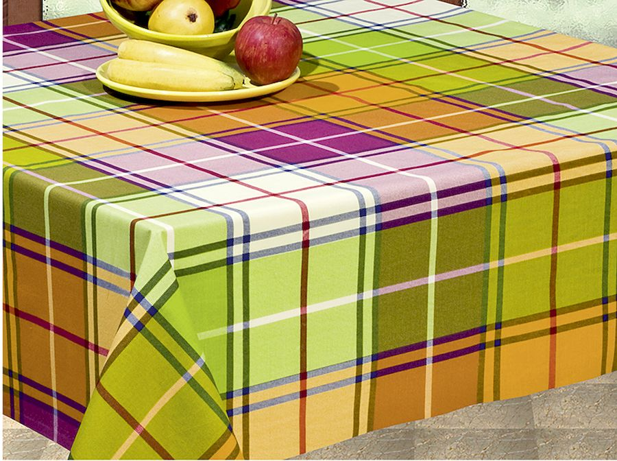 """Скатерть Protec Textil """"Alba. Кантри"""", прямоугольная, цвет: зеленый, оранжевый, коричневый, 140 х 180 см"""