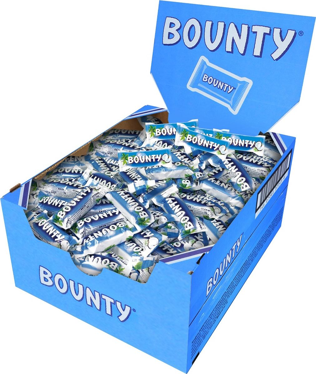 Bounty Minis шоколадный батончик, 3 кг bounty trio шоколадный батончик 82 5 г
