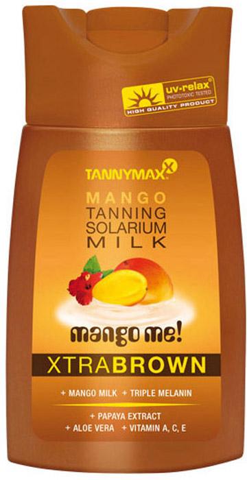 Tannymaxx Молочко-ускоритель для коричневого загара Classic Brown Mango Milk, с натуральным бронзатором двойного действия, 200 мл tannymaxx крем ускоритель для загара brown super black tanning с натуральным бронзатором тройного действия и slimming эффектом 125 мл