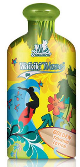 Hawaiiana Крем-ускоритель для загара Waikiki Wave Golden Tanning Lotion, с фруктовым коктейлем и легким натуральным бронзатором, 200 мл ручка 8611 340 с вкладышем 9785 040