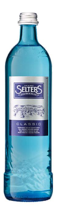 Selters вода минеральная газированная, 0,8 л стекло