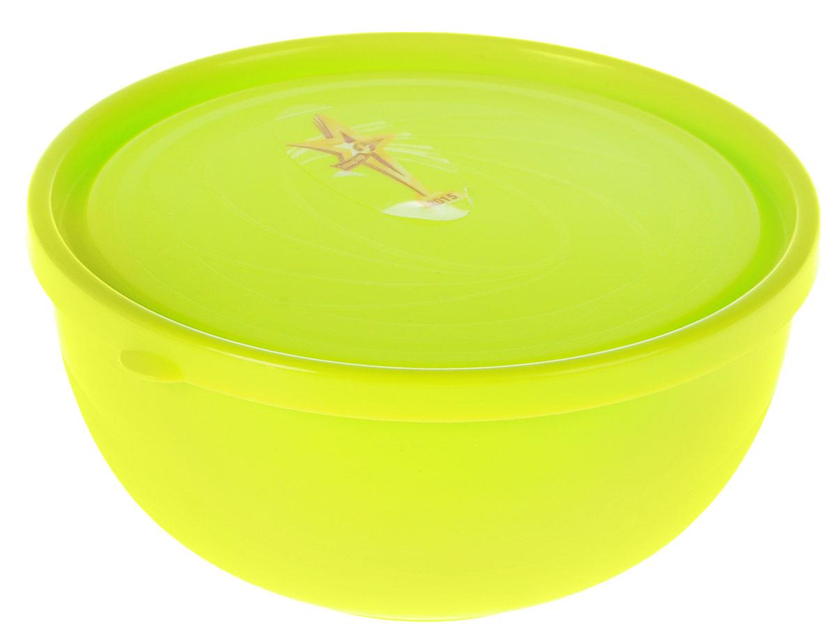 """Салатник Plastic Centre """"Galaxy"""", с крышкой, цвет: светло-зеленый, 550 мл"""