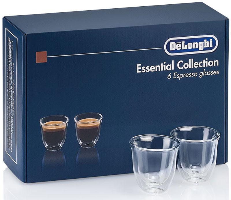 DeLonghi Espresso Glasses Set чашки, 6 шт5513296651DeLonghi Espresso Glasses Set - набор для эспрессо из 6 чашек. Благодаря данному набору использование вашей кофемашины будет приносить еще больше удовольствия. Двойные стенки из термо-стекла Сохранение температуры напитка Удобно держать Можно мыть в посудомоечной машине Боросиликатное стекло Ручная работа