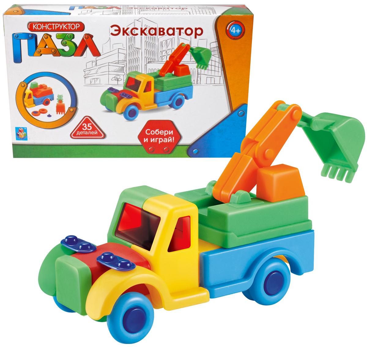 1 Toy Конструктор-пазл Экскаватор 35 элементов конструктор метал экскаватор 129 деталей 01108